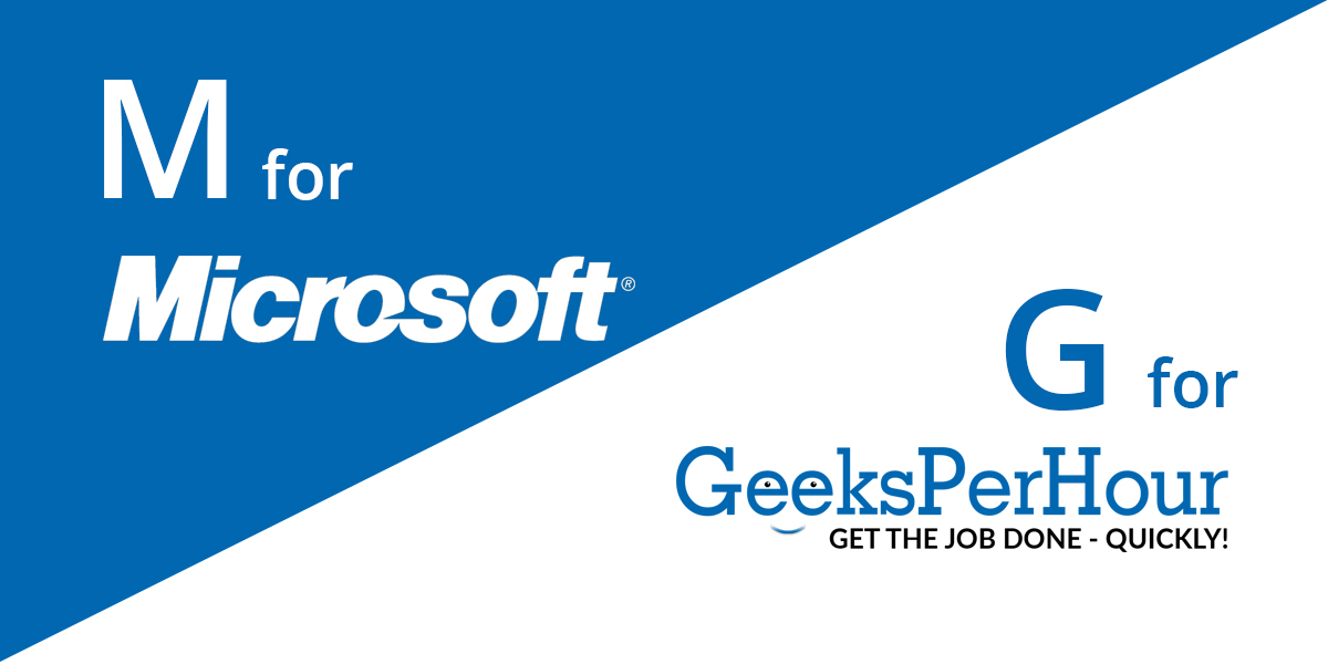 Fortune 500 company -  Microsoft and Geeks Per Hour
