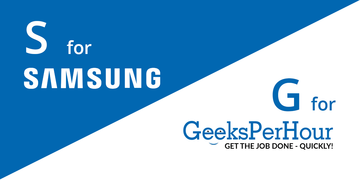 Fortune 500 company -  Samsung and Geeks Per Hour